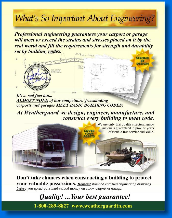 JOSEPH SORAH ILLUSTRATOR AND DESIGNER WEATHERGUARD STEEL BUILDINGS BROCHURE INGINEERING PAGE