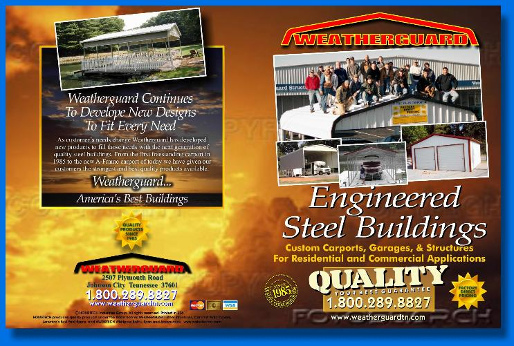 JOSEPH SORAH ILLUSTRATOR AND DESIGNER COVER PAGE LAYOUT FOR WEATHERGUARD BROCHURE