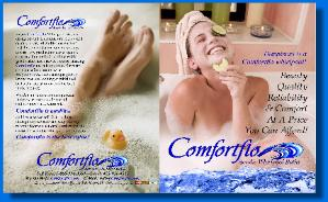 JOSEPH SORAH ILLUSTRATOR AND DESIGNER COMFORTFLO BROCHURE LAYOUT