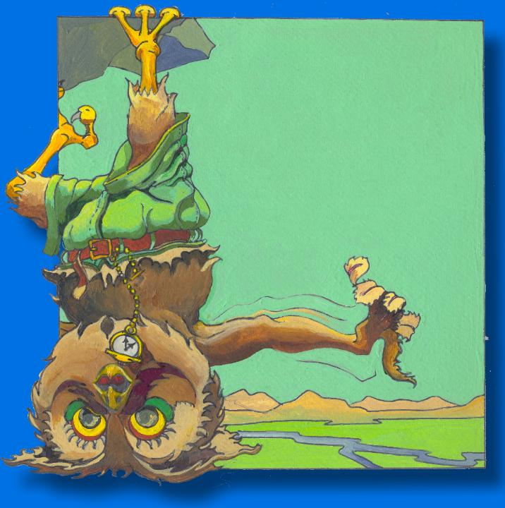 CHILDRENS BOOK ILLUSTRATION OWL HANGING FROM LEDGE