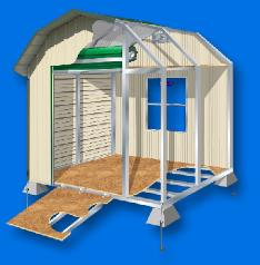 WEATHERGUARD RESIDENTIAL STYLE STORAGE BUILDING TECHNICAL ILLUSTRATION