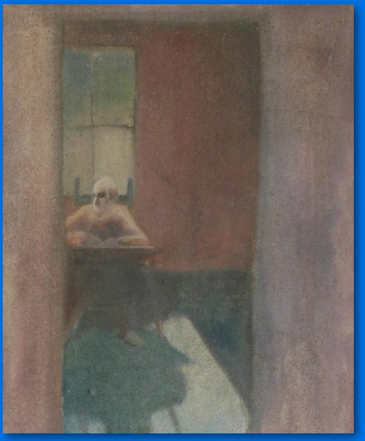 PAINTING OF MAN IN WINDOW